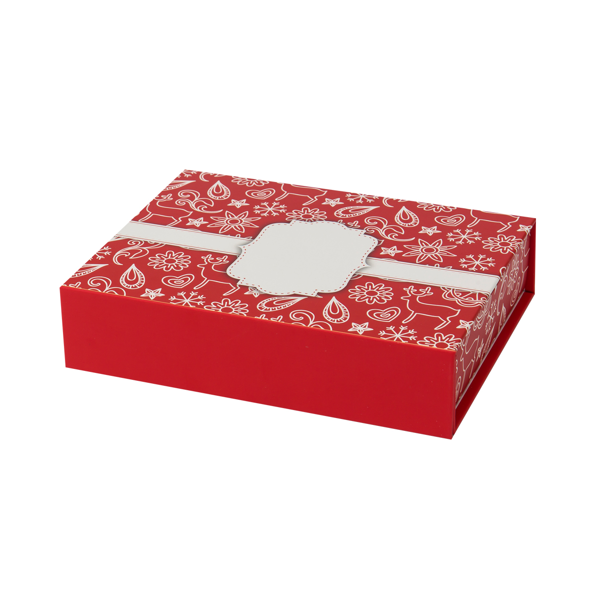 Magnetic closed cardboard christmas gift boxes 31102