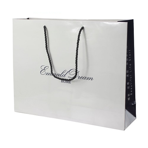 White paper shopping bag 35118