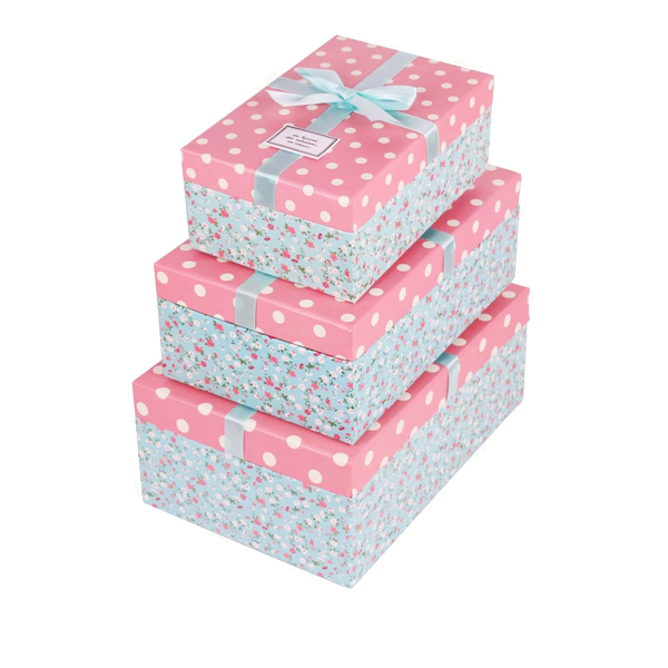 Flower printing shoe box 31147