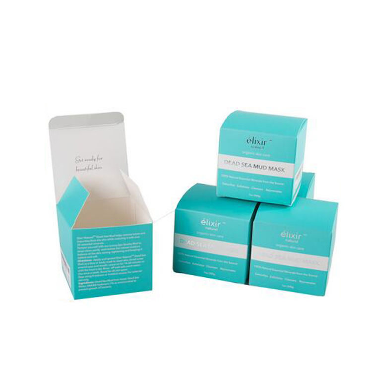 Folding cosmetic packaging skincare box 12179