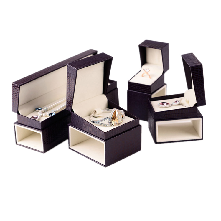 Luxury leather foam Jewelry box 18070