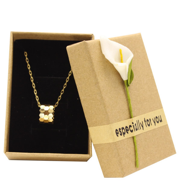 Kraft paper ring necklace box 18803